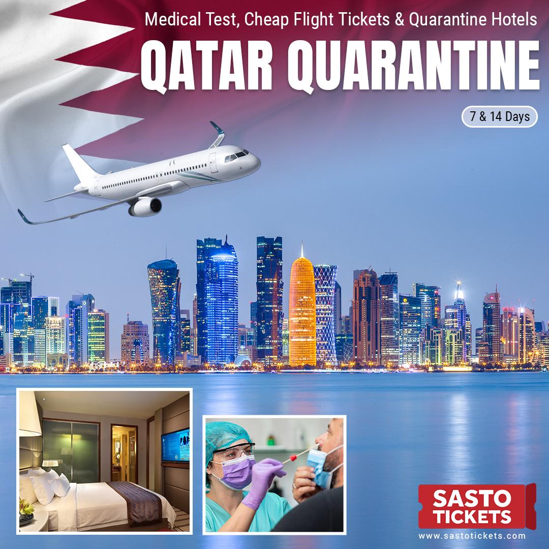Doha Quarantine Hotel + PCR + Flight Tickets